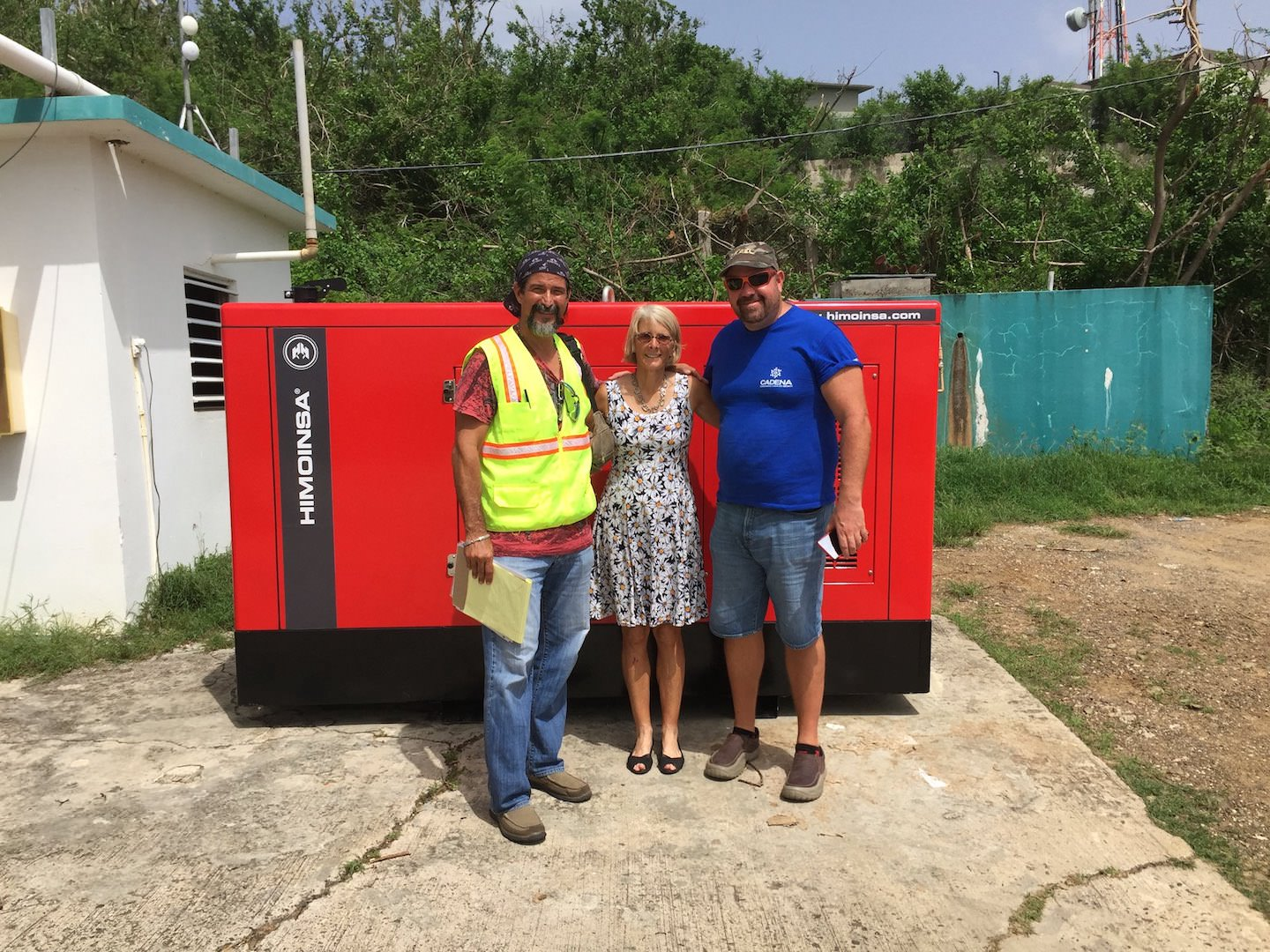 Donated generator to the Health Clinic of Culebra
